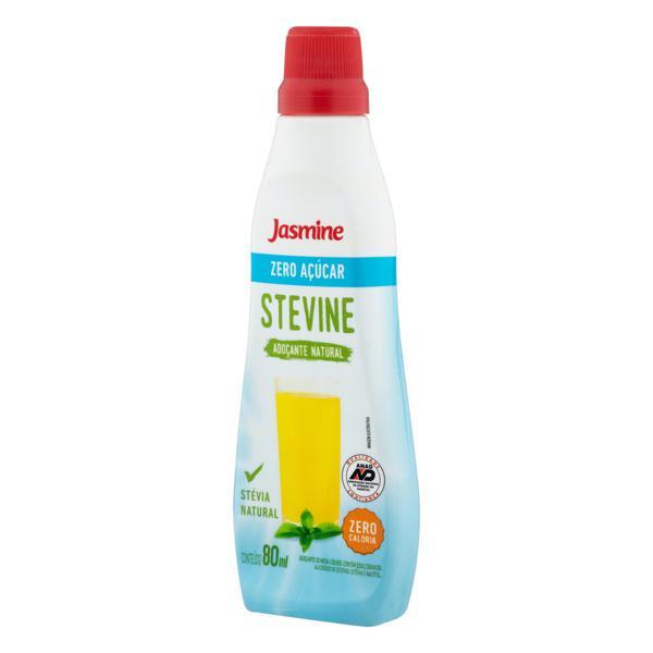 Adoçante Líquido Natural Zero Açúcar Jasmine Stevine Frasco 80ml