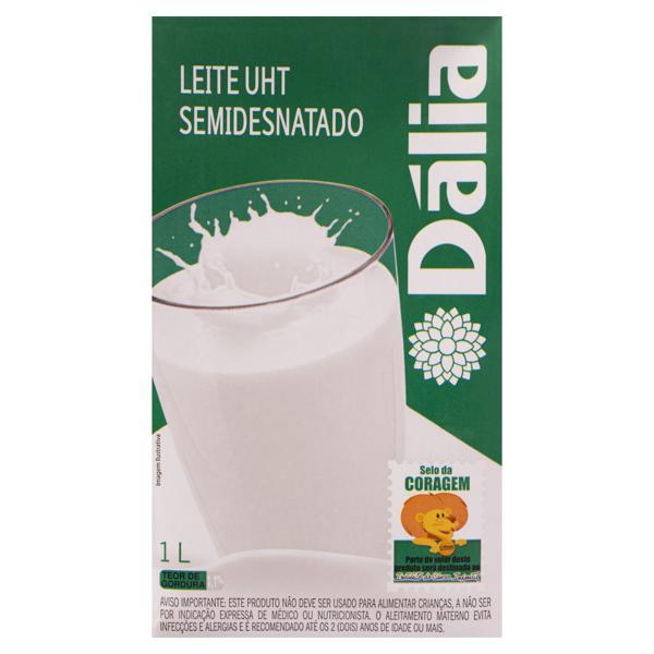 Leite UHT Semidesnatado Dália Caixa 1l