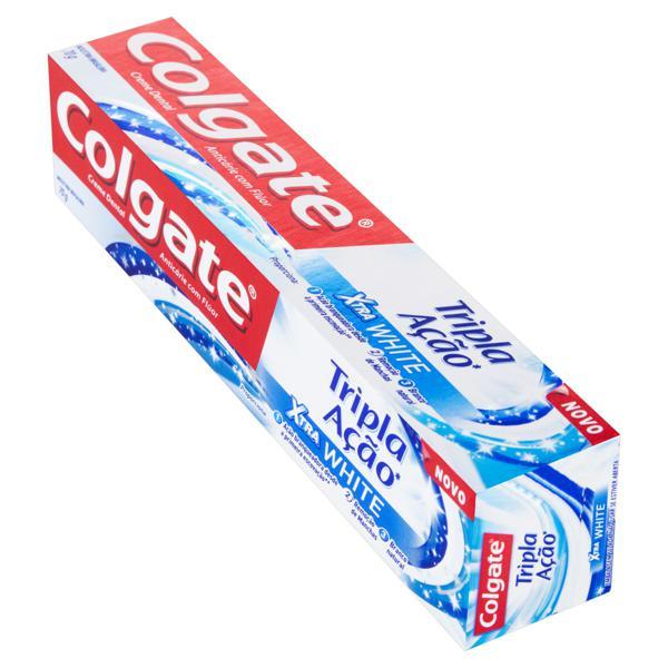 Creme Dental Xtra White Colgate Tripla Ação Caixa 70g