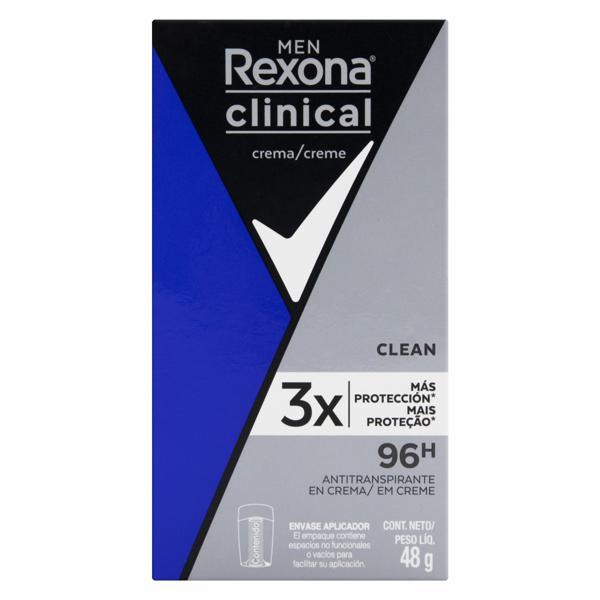Desodorante Creme Clean Rexona Clinical Men 48g