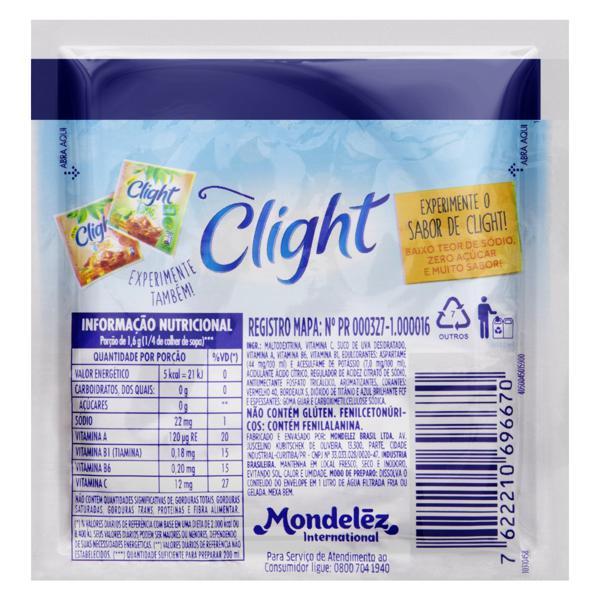 Refresco em Pó Uva Zero Açúcar Clight Pacote 8g