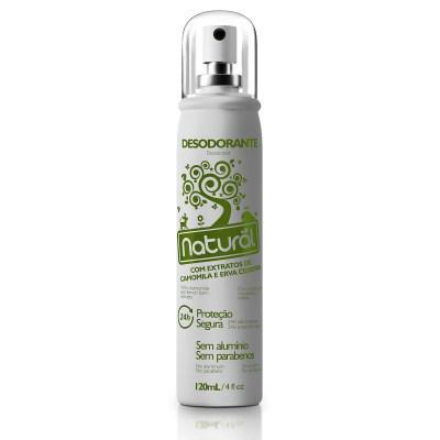 Desodorante spray camomila e cidreira 120ml - Natural