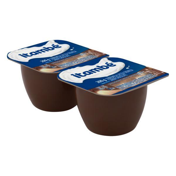 Sobremesa Láctea Chocolate Itambé Bandeja 200g 2 Unidades