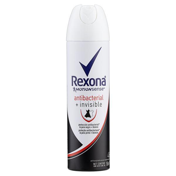 Antitranspirante Aerossol Antibacterial e Invisible Rexona Motionsense 150ml