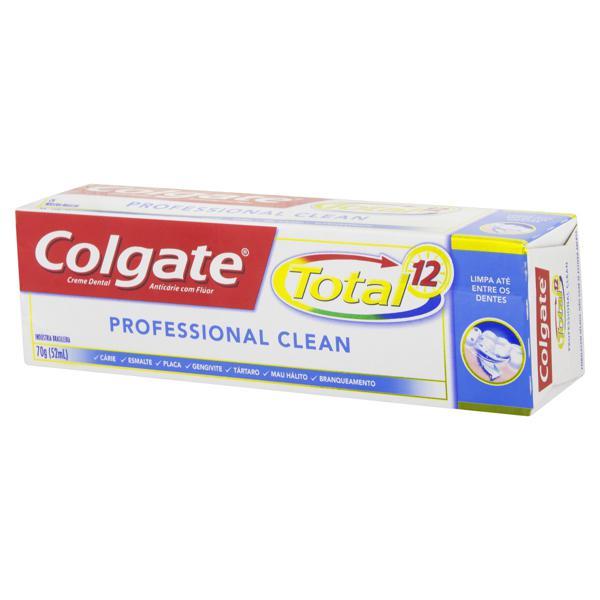 Creme Dental Colgate Total 12 Professional Clean Caixa 70g