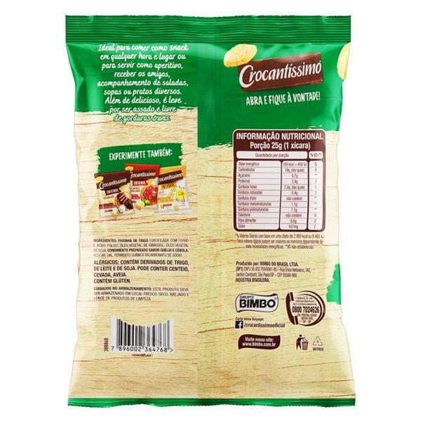 Snack de Trigo Queijo & Cebola Crocantíssimo Pacote 40g