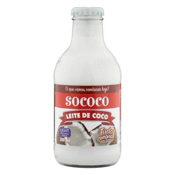 Leite de Coco Light Sococo Vidro 200ml