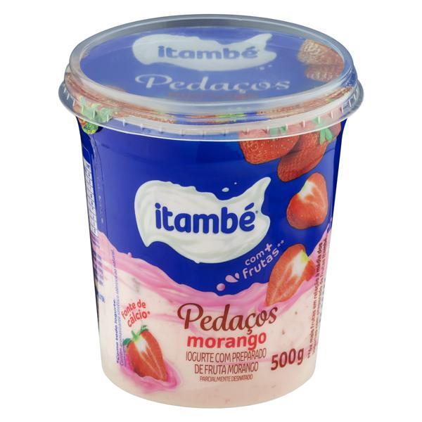 Iogurte Parcialmente Desnatado Morango Itambé Pedaços Pote 500g