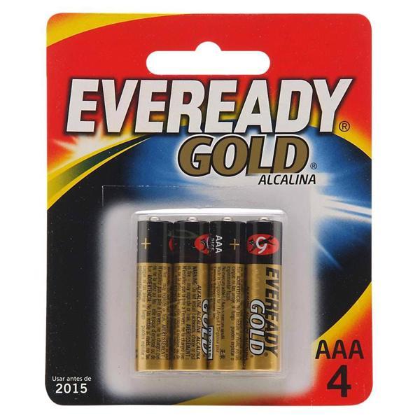 Pilha EVEREADY Gold Alcalina AAA4