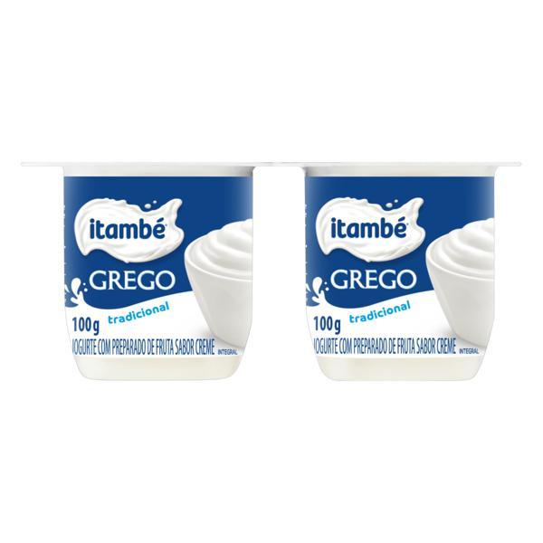 Iogurte Integral Grego Creme Itambé Bandeja 400g 4 Unidades