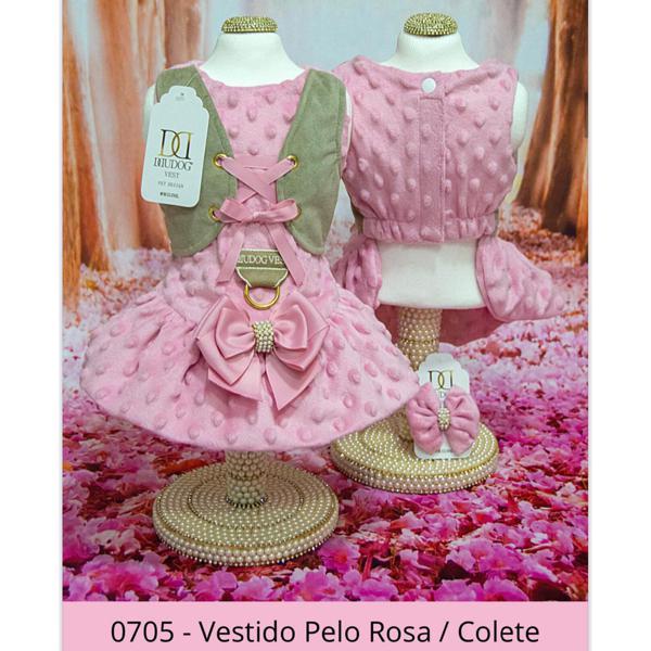 Vestido Pelo Rosa/Colete Dudog Vest
