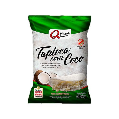 Massa Tapioca Q MASSA Com Coco Resfriada 600g