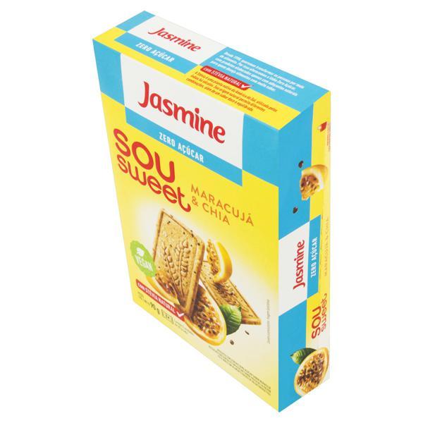 Biscoito Maracujá e Chia Zero Açúcar Jasmine Sou Sweet Caixa 90g