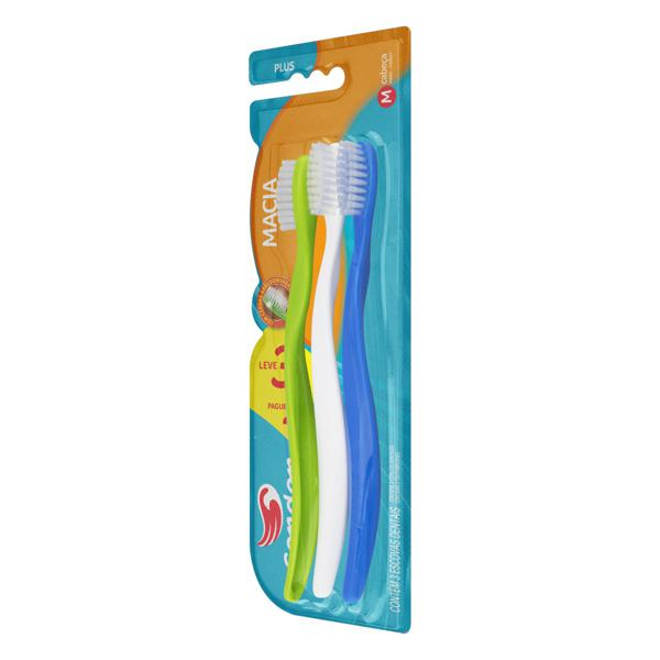 Escova Dental Macia Condor Plus Cabeça M Leve 3 Unidades Pague 2 Unidades