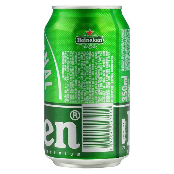 Cerveja Lager Premium Puro Malte Heineken Lata 350ml