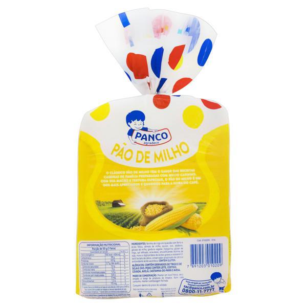 Pão Caseiro Milho Panco Pacote 500g