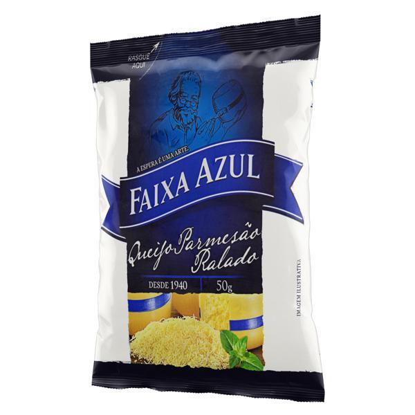 Queijo Parmesão Ralado Faixa Azul Pacote 50g