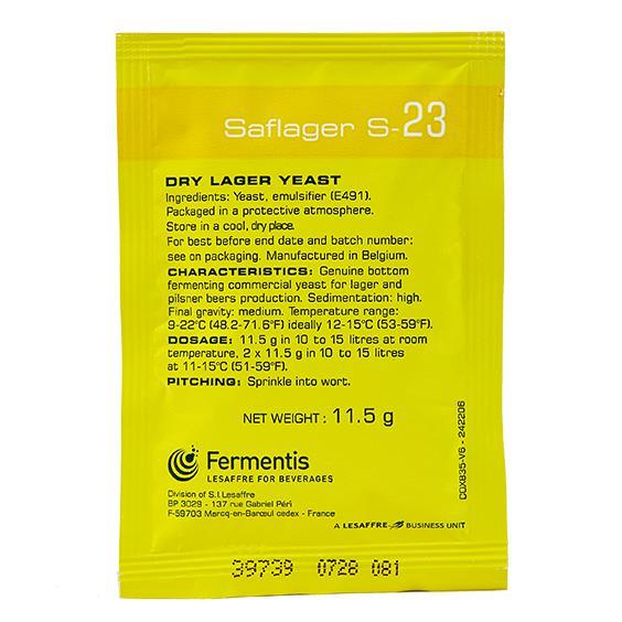 Fermento SafLager™ S-23 - Fermentis 11,5g