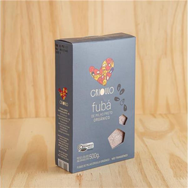 Fubá de Milho Preto Crioulo Orgânico 500g - Vista Alegre