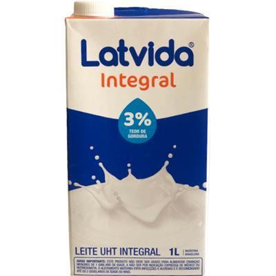 Leite Latvida Integral com Tampa 1L