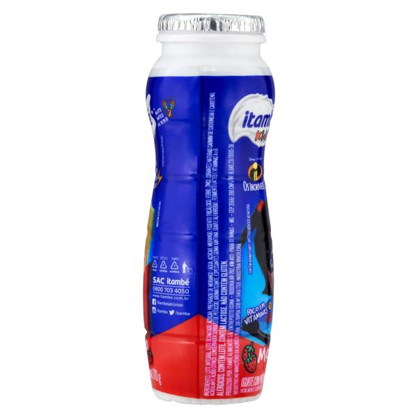 Iogurte Parcialmente Desnatado Morango Os Incríveis 2 Itambé Kids Frasco 170g