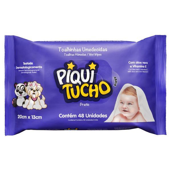 Toalha Umedecida Piquitucho Pratic 20cm x 13cm Pacote 48 Unidades