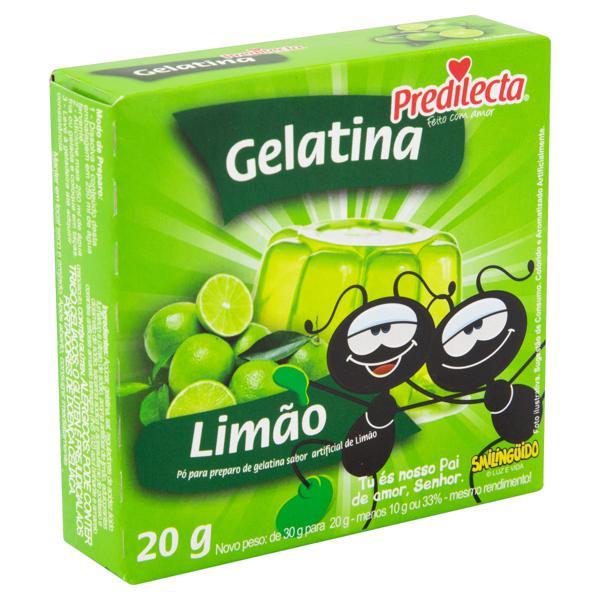 Gelatina em Pó Limão Smilingüido Predilecta Caixa 20g