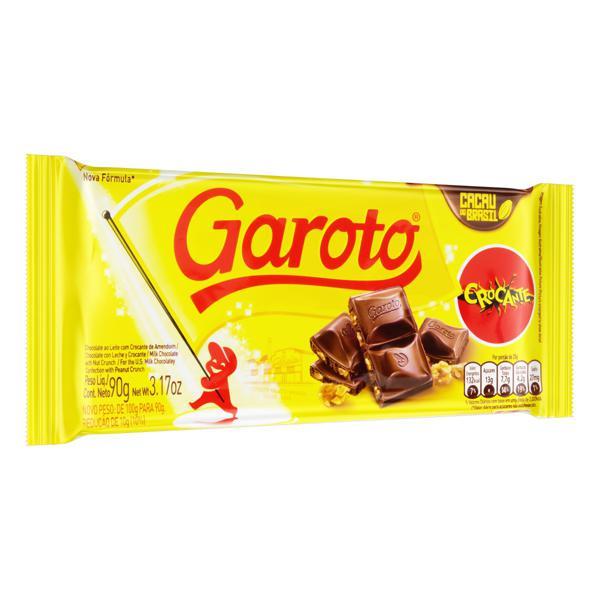 Chocolate ao Leite Crocante Garoto Pacote 90g