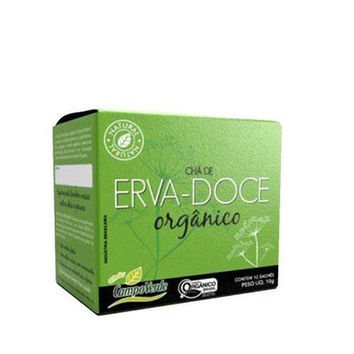 Chá de Erva-Doce Orgânico 10 Sachês de 10g CAMPO VERDE