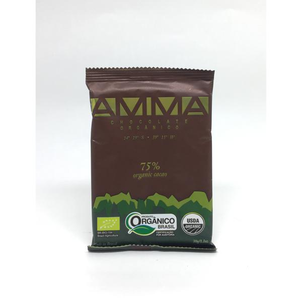 Tablete AMMA CHOCOLATES 75% Cacau 75g