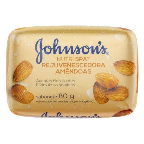 Sabonete em Barra Rejuvenescedora Amêndoas Johnson's Nutri Spa Cartucho 80g