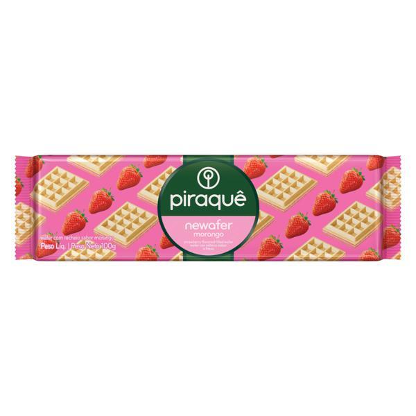 Biscoito Wafer Recheio Morango Piraquê Newafer Pacote 100g