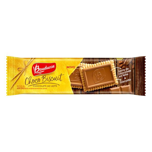 Biscoito Choco Biscuit ao Leite Bauducco Pacote 80g