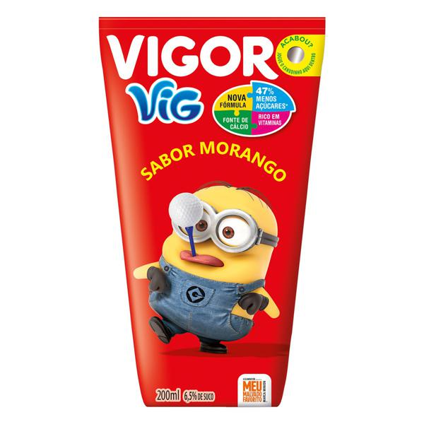 Bebida Adoçada Morango Meu Malvado Favorito Vigor Vig Caixa 200ml