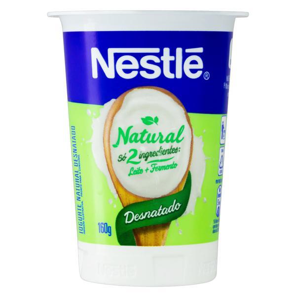 Iogurte Desnatado Natural Nestlé Pote 160g