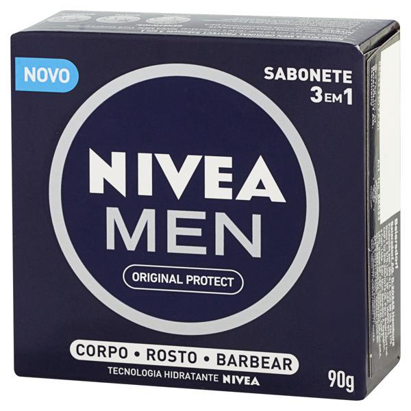 Sabonete em Barra 3 em 1 Original Protect Nivea Men Caixa 90g