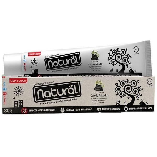 Creme Dental Natural Com Carvão Ativado 80g - Orgânico Natural