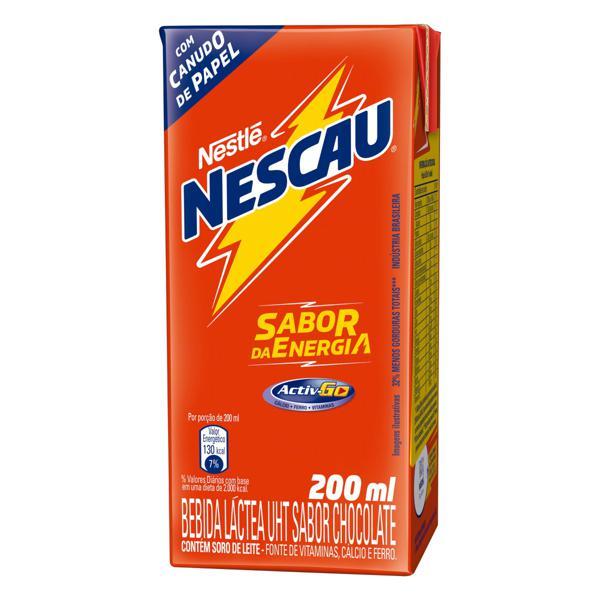 Bebida Láctea UHT Chocolate Nestlé Nescau Caixa 200ml