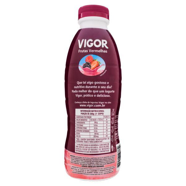 Iogurte Parcialmente Desnatado Frutas Vermelhas Vigor Garrafa 900g