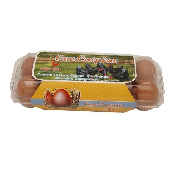 Ovos Caipira LABEL ROUGE com 10 Unidades