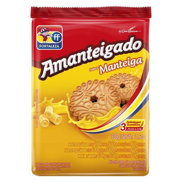Biscoito Amanteigado Manteiga Fortaleza Pacote 330g Embalagem Econômica