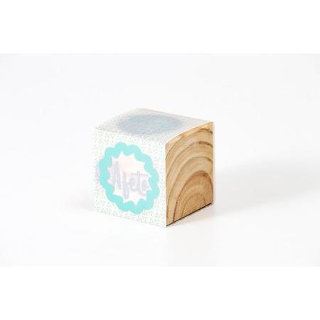 Broto ao cubo madeira - AFETO