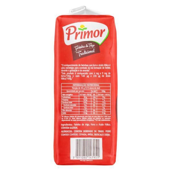 Farinha de Trigo Tipo 1 Primor Pacote 1kg