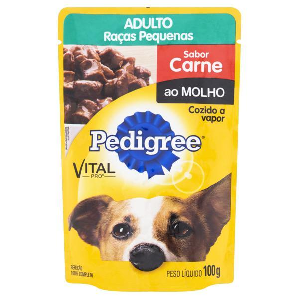 Alimento para Cães Adultos Raças Pequenas Carne ao Molho Pedigree Vital Pro Sachê 100g