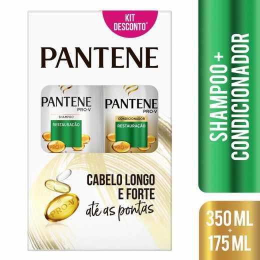 Kit Pantene Restauração Shampoo 350 ml + Condicionador 175 ml