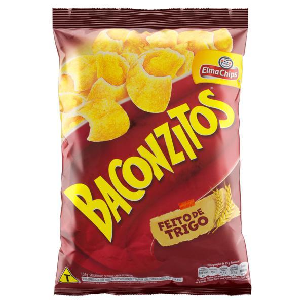 Salgadinho de Trigo Bacon Elma Chips Baconzitos Pacote 103g