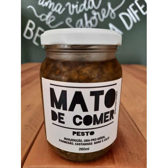 Pesto de Manjericão, Ora-pro-nobis, Parmesão. Castanhas: Baru e Caju 260ml MATO DE COMER