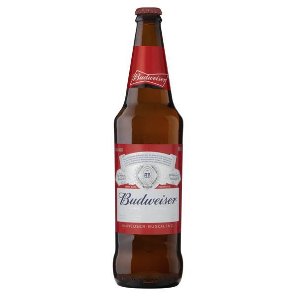 Cerveja Lager Budweiser Garrafa 600ml