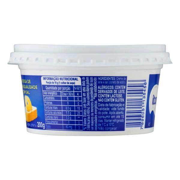 Manteiga de Primeira Qualidade com Sal Itambé Pote 200g