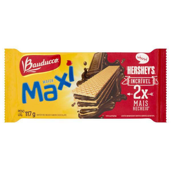 Biscoito Wafer Recheio Chocolate Bauducco Maxi Pacote 117g